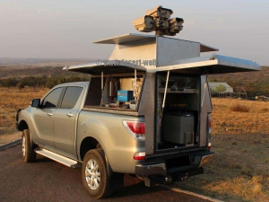 Scorpion surveillance canopy on standard 4x4 double cab